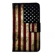 Voor Samsung Galaxy hoesje Portemonnee / Kaarthouder / met standaard / Flip hoesje Volledige behuizing hoesje Vlag PU-leer Samsung S7
