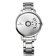 V6 Herren Armbanduhr Einzigartige kreative Uhr Quartz Edelstahl Band Silber