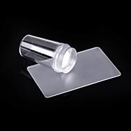 nail art transparante siliconen stamper& veiligheid rechthoek schraper kit