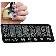 1pcs nieuwe nail art stempelen platen diy beeldsjablonen hulpmiddelen nagel schoonheid xy-j06-10