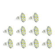 3w gu4 (mr11) led spotlight mr11 12 smd 5730 250 lm warm / cool wit dc12v 10 stuks