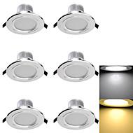 3W Χωνευτό Φως 6 SMD 5730 300 lm Θερμό Λευκό / Ψυχρό Λευκό Διακοσμητικό AC 85-265 / AC 220-240 / AC 110-130 V 6 τμχ