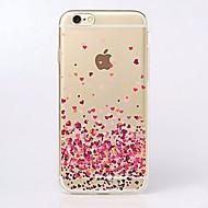 Til iPhone X iPhone 8 iPhone 7 iPhone 7 Plus iPhone 6 iPhone 6 Plus Etuier Ultratyndt Transparent Mønster Bagcover Etui Hjerte Blødt TPU