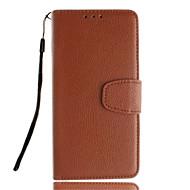 Για Samsung Galaxy Θήκη Θήκη καρτών / Πορτοφόλι / με βάση στήριξης / Ανοιγόμενη tok Πλήρης κάλυψη tok Μονόχρωμη Μαλακή Συνθετικό δέρμα