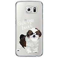 For Samsung Galaxy S7 Edge Ultratyndt Gennemsigtig Etui Bagcover Etui Hund Blødt TPU for Samsung S7 edge S7 S6 edge plus S6 edge S6 S5 S4