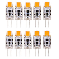 10pcs g4 0705led 1cob 1w 100-150lm quente branco / frio branco / natural branco levou bi-pin luzes