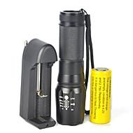 LED Lommelygter LED 5000 Lumen 1 Tilstand Cree XM-L T6 18650 Justerbart Fokus Dæmpbar Camping/Vandring/Grotte Udforskning Cykling Rejse
