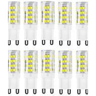 10 stuks g9 51smd 2835 400-500lm warm wit / wit decoratief / waterdicht ac220-240v geleid tweedelig verlichting
