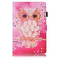 Πλήρης Σώμα πορτοφόλι / Βάση Καρτών / με Stand / Αναρρίπτω / Ανάγλυφο / Μοτίβο Κουκουβάγια Συνθετικό δέρμα Σκληρό Case Cover για το