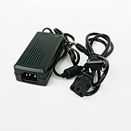 gm2402 48W 24v 2a EU plug ac / dc strømforsyning til LED lys stribe - sort (100 ~ 240V)
