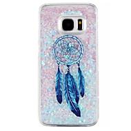 For Samsung Galaxy S7 Edge Flydende væske Etui Bagcover Etui Drømmefanger Hårdt PC for Samsung S7 edge S7 S6 edge S6