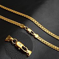 Ανδρικά Γυναικεία Για Ζευγάρια Κολιέ με Αλυσίδα Circle Shape Χρυσό 18K χρυσό Μοντέρνα Κλασσικά Εξατομικευόμενο κοστούμι κοστουμιών
