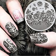 2016 nieuwste versie mode patroon bloem nail art afbeelding stempelen template platen