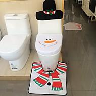 minőségű flanel üléshuzat& szőnyeg talppárna víztartály beállított törölköző fedél fürdőszoba se mikulás karácsonyi dísz