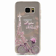 Voor Patroon hoesje Achterkantje hoesje Eiffeltoren Zacht TPU voor Samsung S8 S7 edge S7 S5 Mini S5