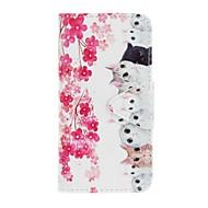 For Samsung Galaxy S7 edge s7 eforcase blomster og katter maleri pu telefon etui