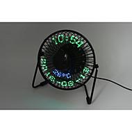 잡다한 것 3-in-1 Desktop calendar,clock&temperature fan 130cm 145*168*115 블랙