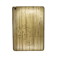 Voor Reliëfopdruk hoesje Achterkantje hoesje Paardenbloem Hard Hout voor Apple iPad Air