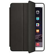 Mert Állvánnyal Automatikus készenlét/ébresztés Flip Origami Case Teljes védelem Case Egyszínű Kemény Műbőr mert AppleiPad (2017) iPad