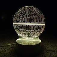 3d karakter / figur LED lampe lysende natt lys for barna rom dekorative lamper fjernkontroll usb lys for familien