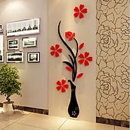 Karácsony Romantika Virágok Falimatrica 3D-s falmatricák Dekoratív falmatricák,Vinil Anyag lakberendezési fali matrica