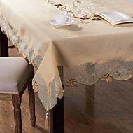 Dikdörtgen Nakış Süslü Masa Örtüleri , Poli / Pamuk Karışımı MalzemeOtel Yemek Masası Düğün Dekorasyon Düğün Ziyafet Yemeği Noel Dekor