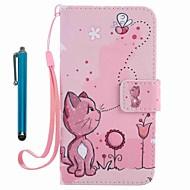 Til iPhone X iPhone 8 Etuier Covere Lommebok Kortholder med stativ Flipp Mønster Heldekkende Etui Katt Hard Kunstlær til Apple iPhone X