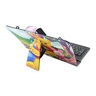 Til Etuier Med stativ Med keyboard Flip Mønster Heldækkende Etui Dyr Tegneserie Hårdt Kunstlæder for Apple Samsung HuaweiiPad Mini 4 iPad