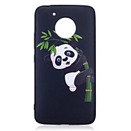 Voor motorola moto g5 plus case cover panda patroon reliëf back cover soft tpu