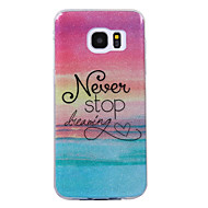 Voor Samsung Galaxy S8 S8 Plus Case Cove Beach Pattern Flash Poeder Imd Process TPU Materiaal Telefoon Hoesje S7 S6 Rand
