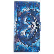 Taske til huawei p10 lite p8 lite (2017) den blå kat mønster pu læder tasker til huawei p9 lite mate 9 y625 changxiang5