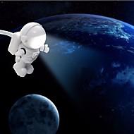 usb led 밤 빛 만화 모양 흰색 spaceman pc 전원 은행 전원 공급 장치 dc 5v 테이블 램프