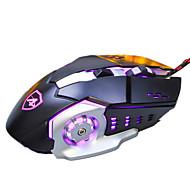 Ajazz aj110 6keys 3200dpi usb pozadinsko svjetlo otežava mehanički miš s kablom od 180cm