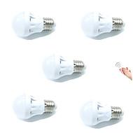 3W Slimme LED-lampen A60 (A19) 9 SMD 2835 200 lm Warm wit Koel wit Sensor Geluidsgeactiveerd Decoratief Licht controle AC 220-240 V5