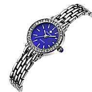 WWOOR 여성용 스포츠 시계 패션 시계 캐쥬얼 시계 시계 나무 손목 시계 독특한 창조적 인 시계 석영 스테인레스 스틸 밴드 우아한 멋진 캐쥬얼 창의적 럭셔리 실버
