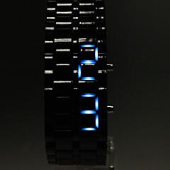 Αντρικά Ρολόι Καρπού Ψηφιακό LED Ημερολόγιο Plastic Μπάντα Μαύρο Ματ Μαύρο