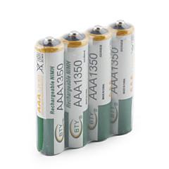 BTY 1.2V 1350mAh Oplaadbaar Ni-MH Aaa Batterij 4 pcs