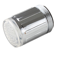 스타일리쉬 수압전원 주방 LED 수전조명(플라스틱, 크롬 마감)