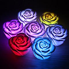 로맨틱 로즈 모양의 7 색 변경 야간 조명 ramdon 색상 (3xag13)