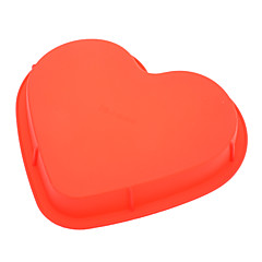 μούχλα γλυκιά καρδιά πίτσα σε σχήμα κέικ σιλικόνης (τυχαία χρώμα)