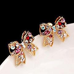 Dames Oorknopjes Liefde leuke Style Luxe Sieraden Kostuum juwelen Strass Legering Strikvorm Sieraden Voor Feest Dagelijks Causaal