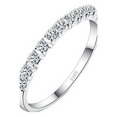 Z&X® (1 개) 패션 여성의 투명 모조 다이아몬드 반지