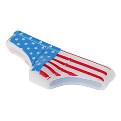 Funny Suunniteltu American Flag Pattern alushousut Muoto Home Button Case for iPhone 4/4S/5/5S ym.