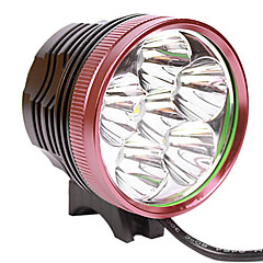 LetterFire LF-60 3 형태 6xCree XM-L L2 LED 자전거 헤드 램프 (5500LM, 4x18650, 블랙 + 레드)