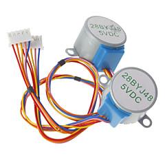 (Arduino için) için dc 5v 28ybj-48 step motor ((ile çalışır resmi (arduino) tahtaları / 2 adet için)