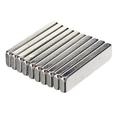 20 x 5 x Güçlü NdFeB Mıknatıslar 2mm - Gümüş (10 ADET)