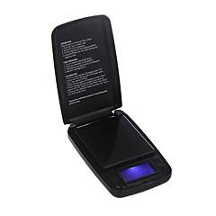 500g / 0,1 g elektronikus digitális mérleg Pocket Ékszer Arany tömegű Balance LCD kijelző kék háttérvilágítással