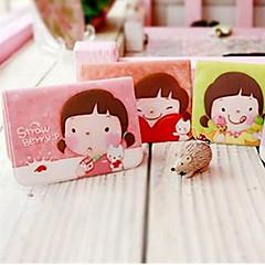 Cartoon Little Girl Mønster Card Case (tilfældig farve)