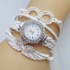 아가씨들 패션 시계 팔찌 시계 모조 다이아몬드 시계 비행 모조 다이아몬드 석영 가죽 밴드 스파클 보헤미안 화이트 블루 레드 그린 핑크 로즈 아이보리