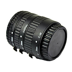 alüminyum ile Canon EOS ef ef-ler için otomatik netleme makro uzatma tüpü siyah lake montaj pişmiş